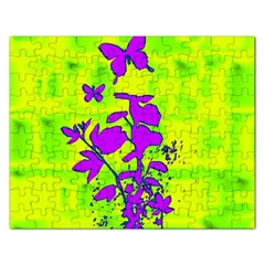 Butterfly Green Jigsaw Puzzle (Rectangle)