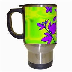 Butterfly Green Travel Mug (White)