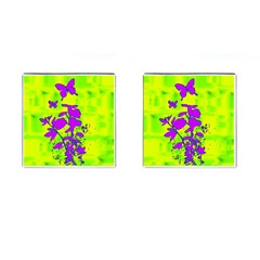 Butterfly Green Cufflinks (square)