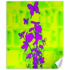 Butterfly Green Canvas 8  x 10  (Unframed)