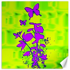 Butterfly Green Canvas 12  x 12  (Unframed)