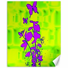 Butterfly Green Canvas 16  x 20  (Unframed)