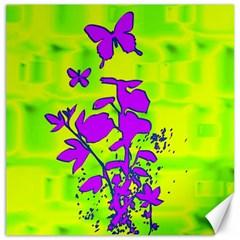 Butterfly Green Canvas 20  X 20  (unframed)