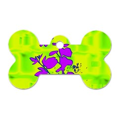 Butterfly Green Dog Tag Bone (One Sided)