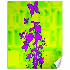 Butterfly Green Canvas 11  x 14  (Unframed)