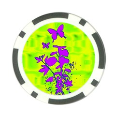Butterfly Green Poker Chip