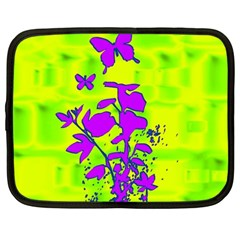 Butterfly Green Netbook Sleeve (Large)