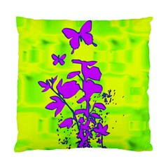 Butterfly Green Cushion Case (single Sided)