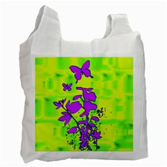 Butterfly Green Recycle Bag (one Side)