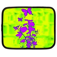 Butterfly Green Netbook Sleeve (XL)