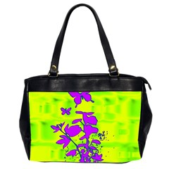 Butterfly Green Oversize Office Handbag (Two Sides)