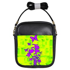 Butterfly Green Girl s Sling Bag