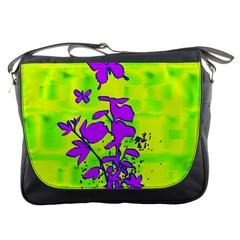 Butterfly Green Messenger Bag