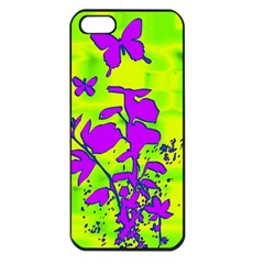 Butterfly Green Apple Iphone 5 Seamless Case (black)