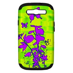 Butterfly Green Samsung Galaxy S III Hardshell Case (PC+Silicone)