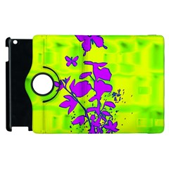 Butterfly Green Apple iPad 3/4 Flip 360 Case