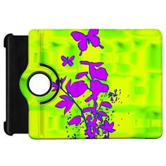 Butterfly Green Kindle Fire Hd 7  Flip 360 Case