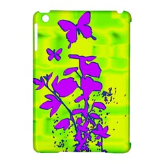 Butterfly Green Apple iPad Mini Hardshell Case (Compatible with Smart Cover)