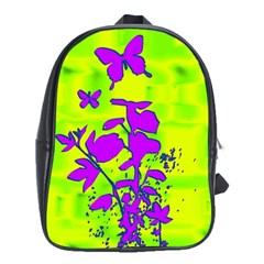 Butterfly Green School Bag (XL)