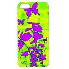 Butterfly Green Apple iPhone 5 Hardshell Case with Stand