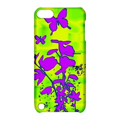 Butterfly Green Apple iPod Touch 5 Hardshell Case with Stand