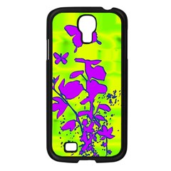 Butterfly Green Samsung Galaxy S4 I9500/ I9505 Case (Black)