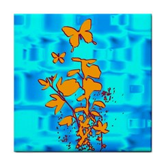 Butterfly Blue Ceramic Tile