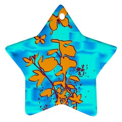 Butterfly Blue Star Ornament