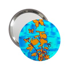 Butterfly Blue Handbag Mirror (2.25 )