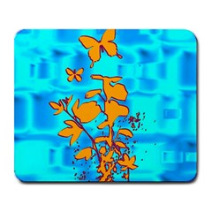 Butterfly Blue Large Mouse Pad (Rectangle)