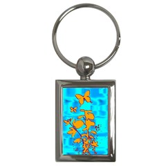 Butterfly Blue Key Chain (Rectangle)