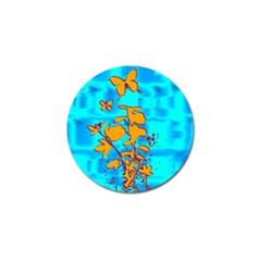 Butterfly Blue Golf Ball Marker