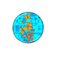 Butterfly Blue Golf Ball Marker 4 Pack (for Hat Clip)