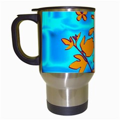 Butterfly Blue Travel Mug (white)