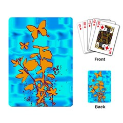 Butterfly Blue Playing Cards Single Design