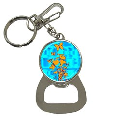 Butterfly Blue Bottle Opener Key Chain