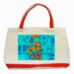 Butterfly Blue Classic Tote Bag (Red)