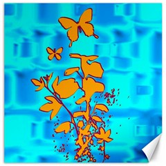 Butterfly Blue Canvas 16  X 16  (unframed)