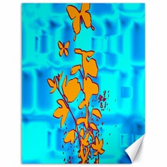 Butterfly Blue Canvas 18  x 24  (Unframed)