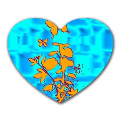 Butterfly Blue Mouse Pad (Heart)