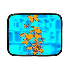 Butterfly Blue Netbook Sleeve (small)