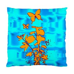 Butterfly Blue Cushion Case (two Sided)