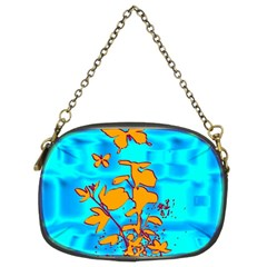 Butterfly Blue Chain Purse (Two Sided)