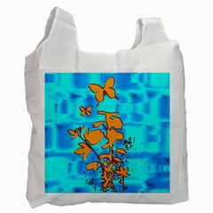Butterfly Blue Recycle Bag (Two Sides)