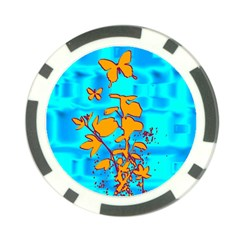 Butterfly Blue Poker Chip (10 Pack)