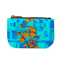 Butterfly Blue Coin Change Purse