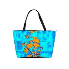 Butterfly Blue Large Shoulder Bag