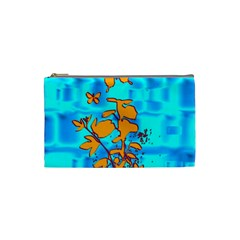 Butterfly Blue Cosmetic Bag (Small)