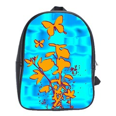 Butterfly Blue School Bag (Large)