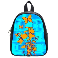 Butterfly Blue School Bag (Small)